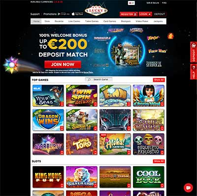 ACE Lucky Casino Website
